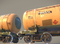 Railway Oil Tank Car vr1