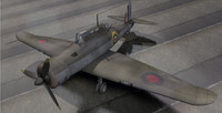 rare planes blackburn b-24 3d model
