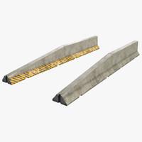 concrete barrier 3d max