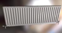 3d model single panel convector radiator