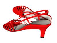 3d model heal shoes girls