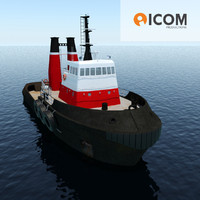 tugboat type twin screw 3d model