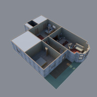 3d model house table