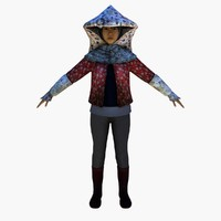 farmer tea lady 3d model