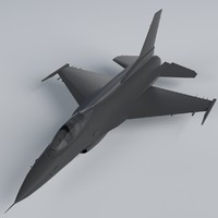 3d model f-16 fighting falcon