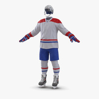 3d model hockey equipment generic 4
