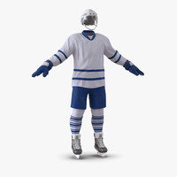 hockey equipment generic 5 3d model