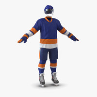 hockey equipment generic 3 3d model