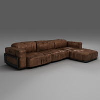 Low-poly Leather Sofa