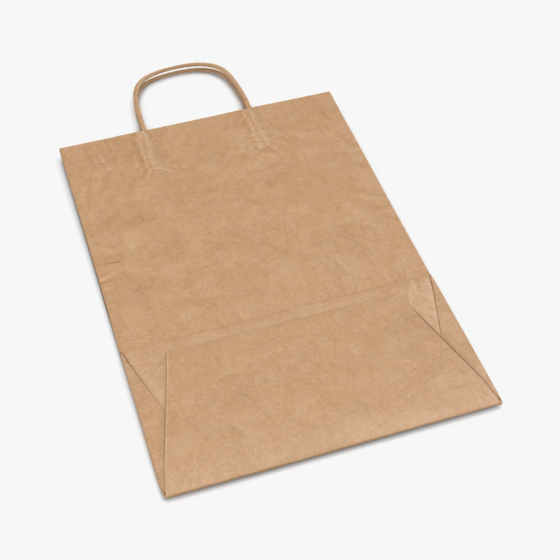 Paper Bag With Handle Folded vray 3d model 00.jpg