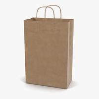 3d paper bag handle model