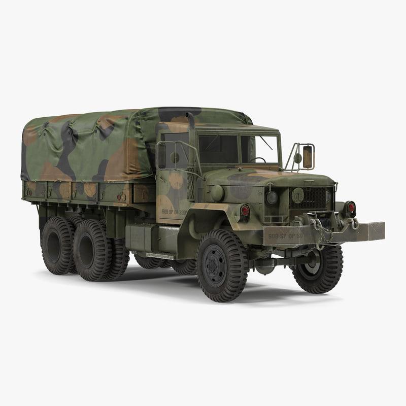 US Military Cargo Truck m35a2 Camo vray 3d model 000.jpg