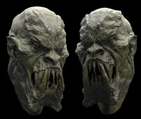 3d monster head