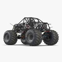 3d monster truck bigfoot 2 model