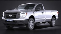 nissan titan single 3d model