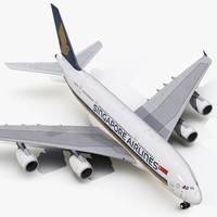 3d model airbus a380-800 singapore airlines