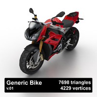 3d generic sport bike model