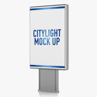 citylight advertising 3d c4d