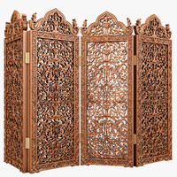 Carved Dressing Screen