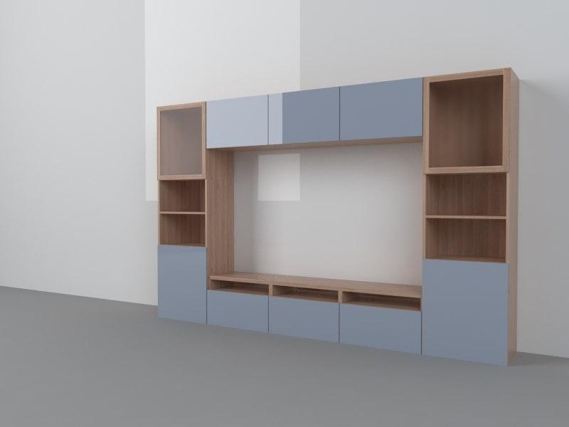 3d model ikea besta. Black Bedroom Furniture Sets. Home Design Ideas