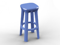 3d frozen stool model