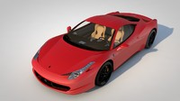 3d car ferrari 458 italia