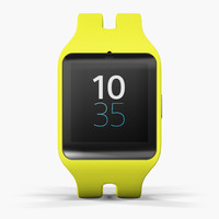 3d max sony smartwatch 3 yellow