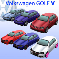 3d volkswagen golf v model