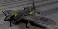 miles m 20 fighter aircraft 3d 3ds