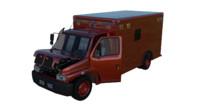 3d mini truck interior model