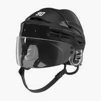 hockey helmet generic 3d model