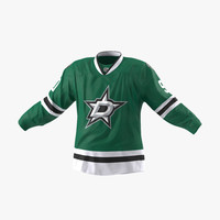 hockey jersey dallas stars 3d max