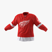 3d max hockey jersey detroit red