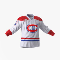 3d c4d hockey jersey montreal canadiens