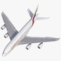 airbus a380-800 emirates rigged max