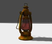 x old oil lantern