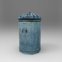 3d model bin dustbin
