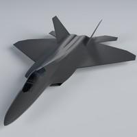 3d f-22 raptor