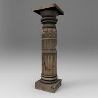 broken pillar 3d model