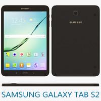 3d model samsung galaxy tab s2