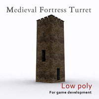 3d model medieval fortress turret