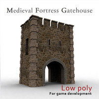 medieval fortress gatehouse 3d max