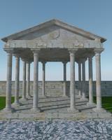 3d model pergola stone