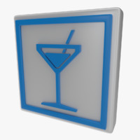3d icon cocktail model