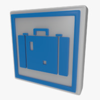 icon suitcase 3d obj