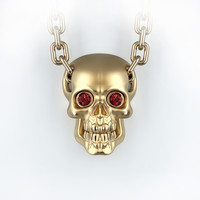 skull pendant gemstones 3d model