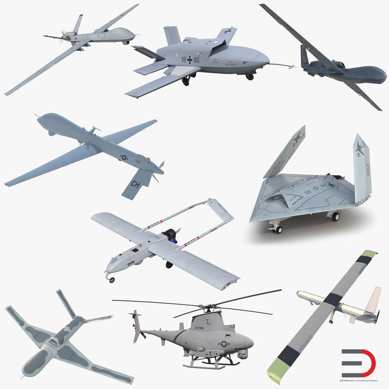 UAV Rigged Collection 3d models 000.jpg