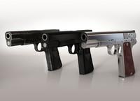 3d model vis w35 gun high-detailed