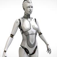 cyborg futuristic sci-fi 3d model