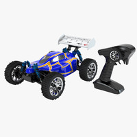 3d buggy car control set model
